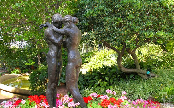 Monaco is a treasure of gardens and sculpture