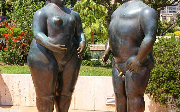 An interesting sculpture entitled Adam and Eve