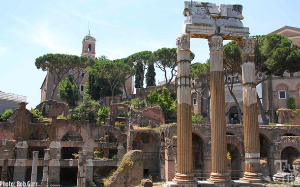 The Forum contains a large number of ancient ruins
