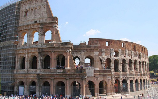 Rome's most famous ruin is of course, the Coliseum