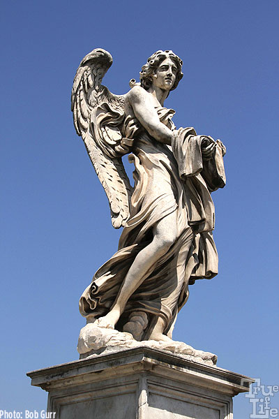 The Bridge of Sant'Angelo features a variety of classic statues