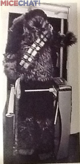 Terri as Chewbacca. Her Dad used to ask if anyone wanted to see a portrait of his daughter and show this shot.