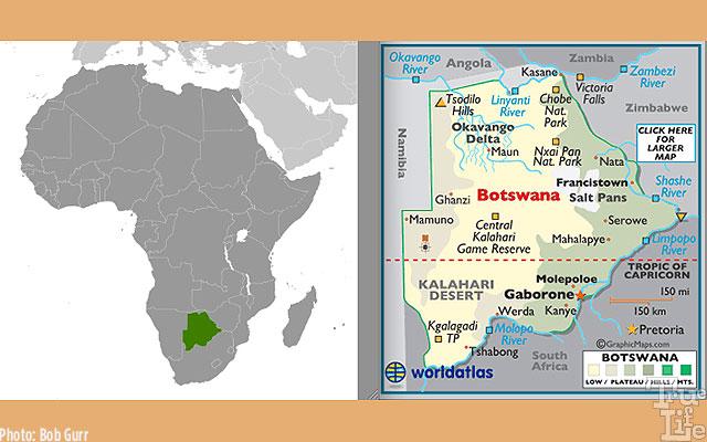 Botswana's Okavango Delta is located in the south of Africa