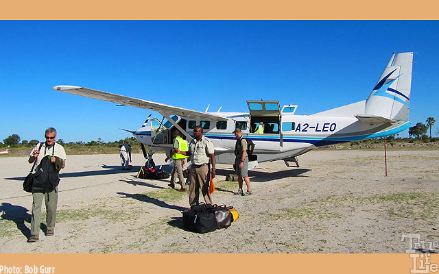 Travel between outside cities and the many camps is by Cessna Caravan