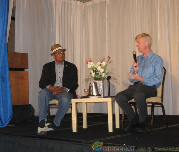 Floyd Norman and moderator Allan Halcrow