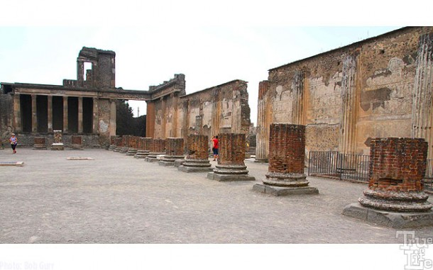 These are the remains of the Forum Temple.