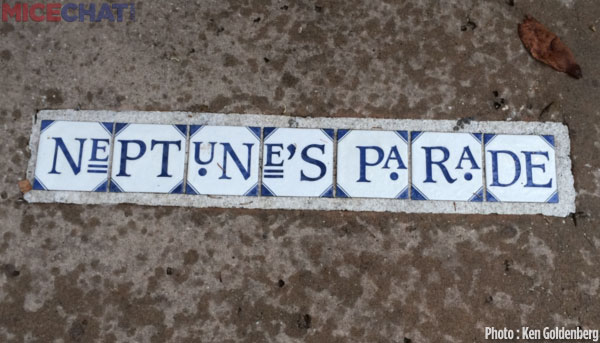 Just like in The Big Easy where they have tiled street markers!