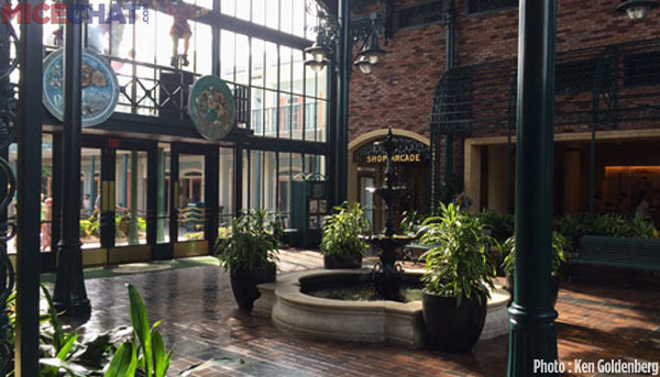 Inside the French Quarter's entrance atrium.