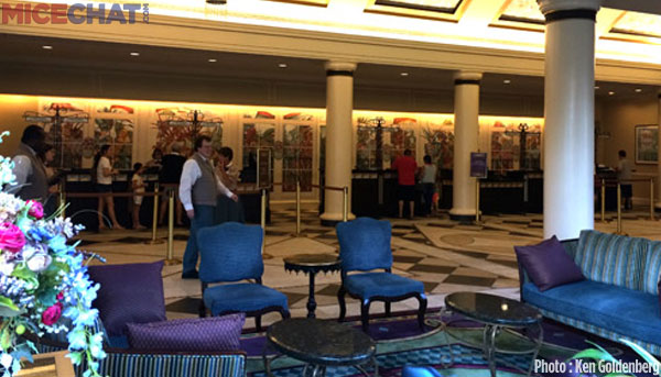 As with all the Disney resorts, the check-in area was nicely themed.