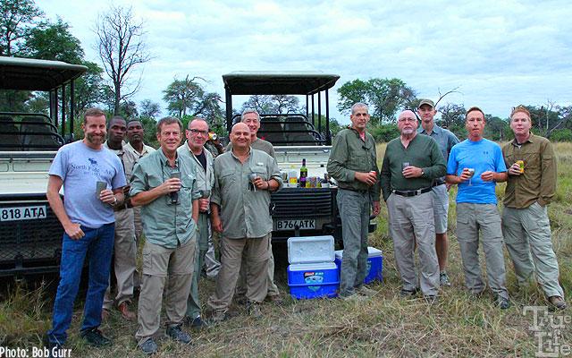 Cocktail hour enjoyed by the Okavango explorers