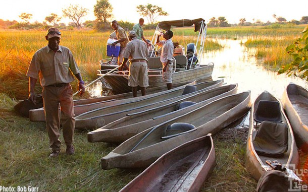Mokoro canoe expeditions just before sunset were Bob's favorite times