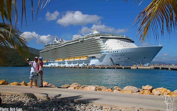 Allure docked at the private Labadee Recreation Park in Haiti.