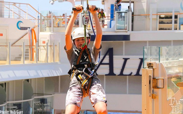 Guests can even get a taste of zip line high above the Boardwalk.