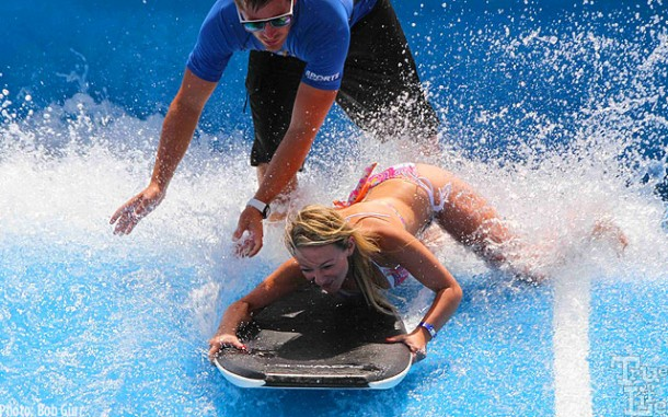 Instructors can teach anyone try their hand at belly board riding.