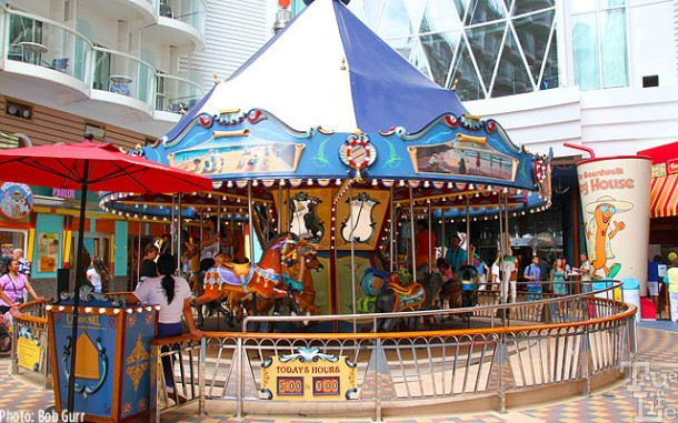 Small children love the special Boardwalk activities such a merry-go-round.