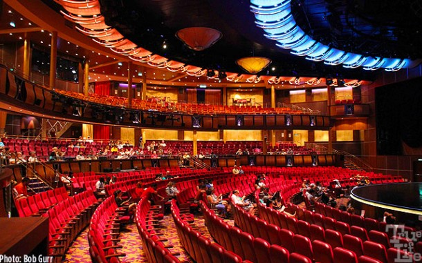 Allure features broadway shows in the large and very beautiful theater.