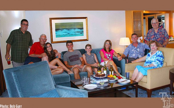 Our family of ten gathered every day in the beautiful owners suite.