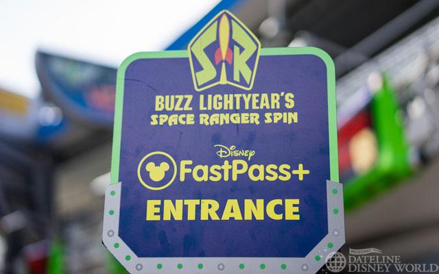 New Buzz Lightyear FP+ entrance sign.