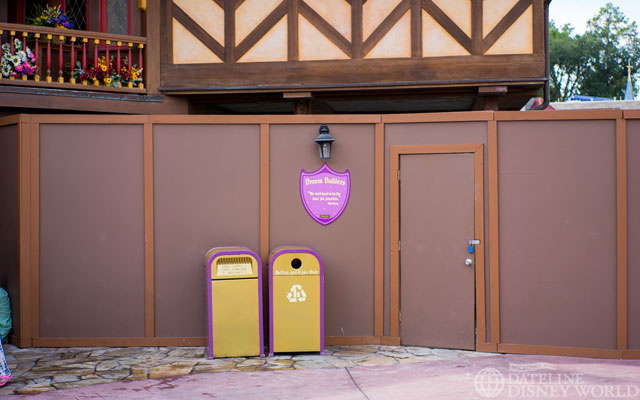 Walls still up here next to Princess Fairytale Hall.