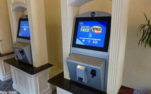 Universal Express Pass kiosk at hotel
