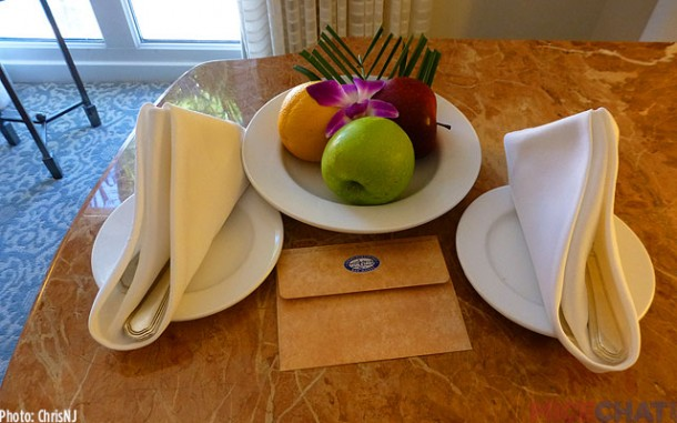 Welcome gift for rewards member after several stays at Loews properties
