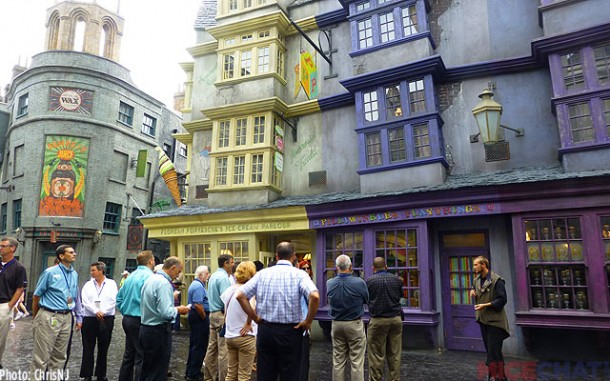 SeaWorld staff is given a private tour of Diagon Alley