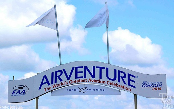 Entrance sign to the Oshkosh Wisconsin 2014 Airventure