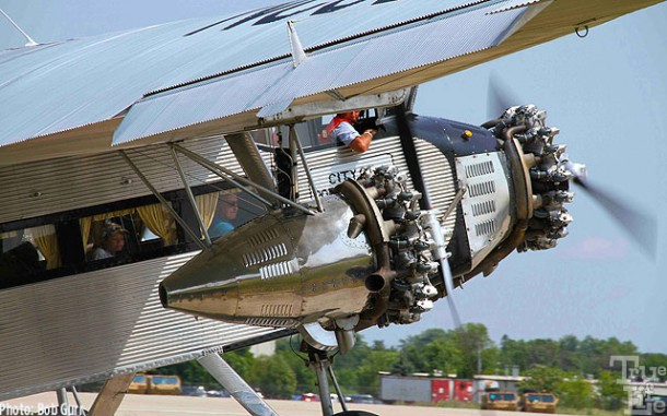 This Ford Trimotor flew passengers every day - note the curtains
