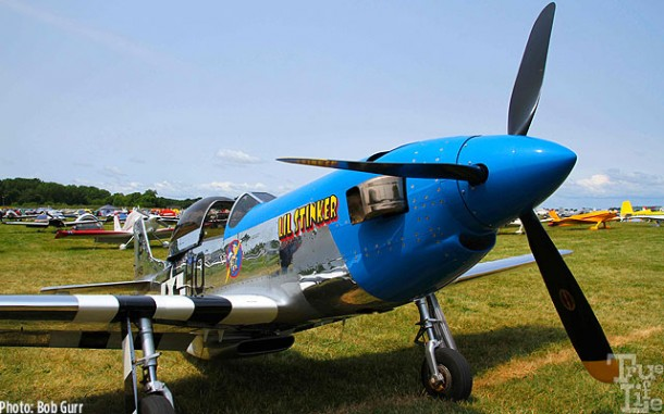This home-built half size P-51 is turbo-prop powered - so cute!