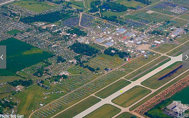 Aerial view of Wittman Field, site of AirVenture - 10,000 airplanes!
