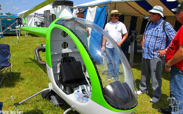 The single seat Mosquito is a micro-helicopter - beautifully engineered