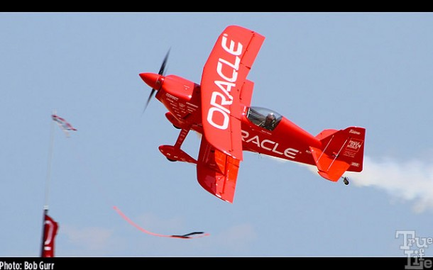 Sean Tucker in his Oracle special is my personal favorite airshow pilot