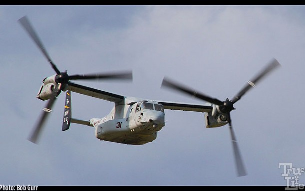 The Bell Boeing V-22 Osprey is a fascinating machine to watch