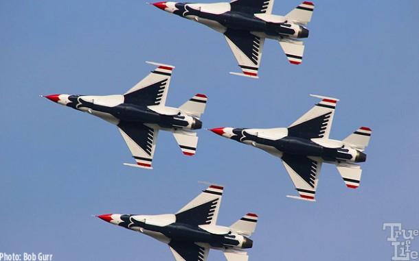 Thunderbirds - from the bottom