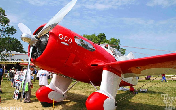 The Gee Bee QED replica 1934 racer was the crowd favorite
