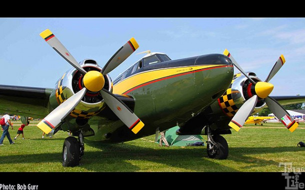 This Howard-modified Lockheed 14 is a dramatic late 1940s design