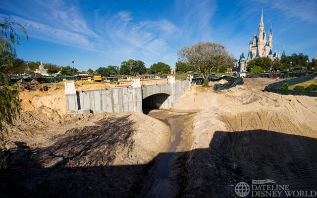 Hub progress - Tomorrowland side.