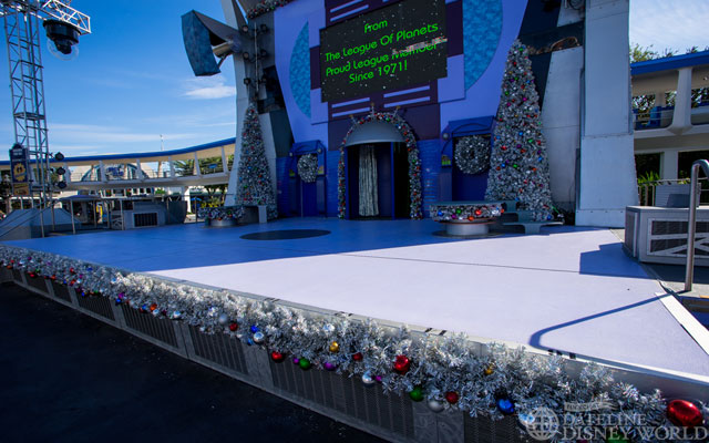 Stage set for a Totally Tomorrowland Christmas.