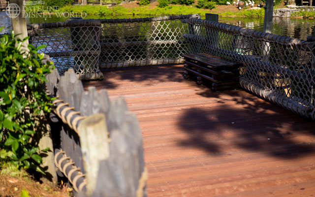 The Rivers of America boardwalk is all complete.