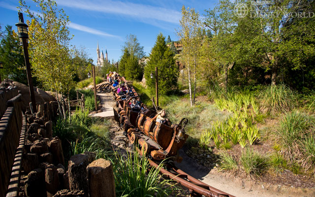 There was a small fire on the Mine Train last week, but the ride is up and running this week.