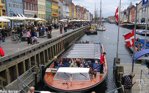 Visitors may see Copenhagen up close by canal boat excursions
