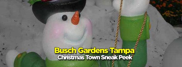Busch Gardens Tampa Christmas Town Sneak Peek