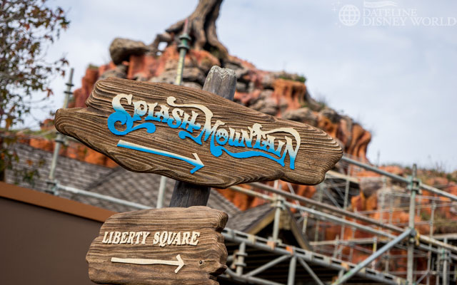 Splash Mountain went under for its yearly refurb.