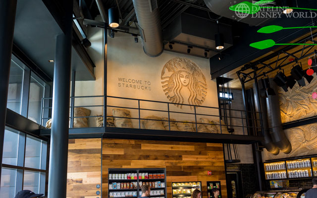 Starbucks opened a flagship location at Downtown Disney.