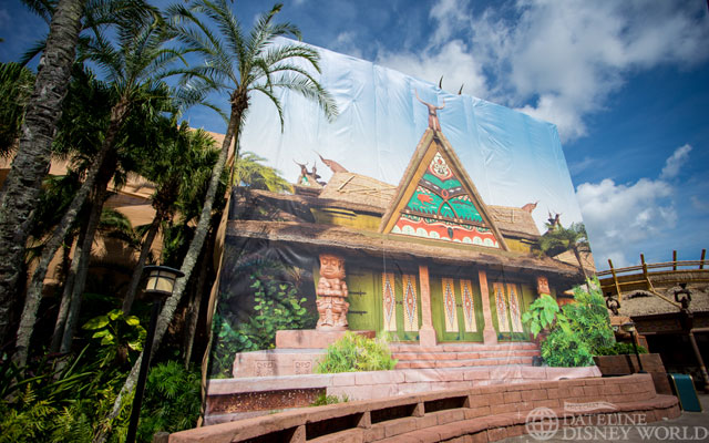 Tiki Room got some TLC this year as well.