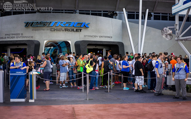 LONG lines for Test Track.