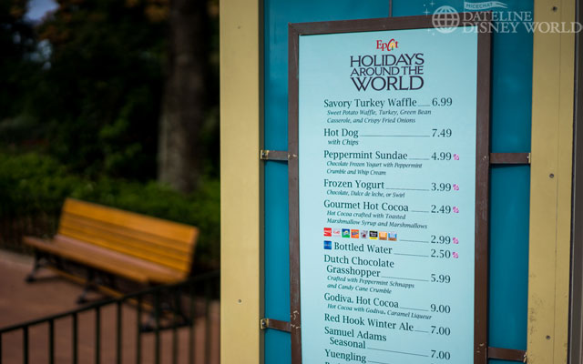Special foods at World Showcase Promenade for the holidays.