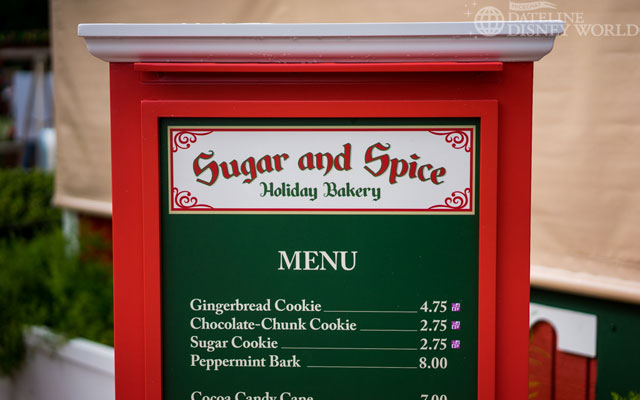 Special snacks at the American Adventure.