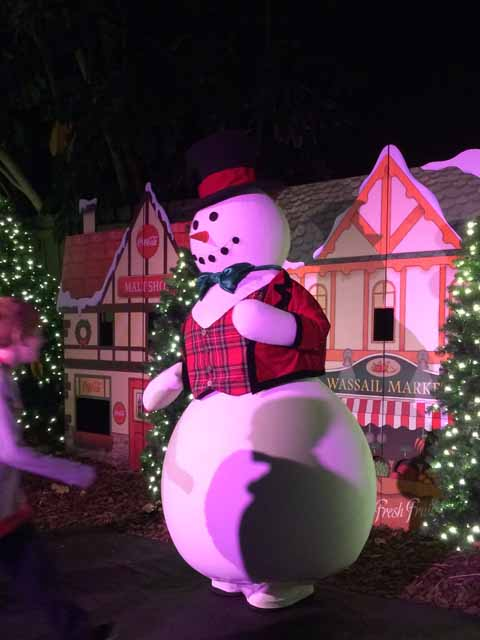 The Christmas Town Snowmen were out greeting guests.