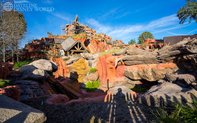 Splash Mountain is down for its yearly refurb.